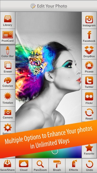 Photo Splash FX - editor with multiple color stroke to splash, colorize, recolor and share on instagram, Facebook & dropbox Screenshot