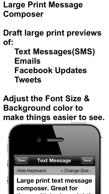 Large Print Message Composer screenshot-0