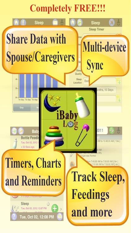 iBabyLog : Baby Breastfeeding Timer, Nursing Tracker and Sleep, Diaper, Activities Log