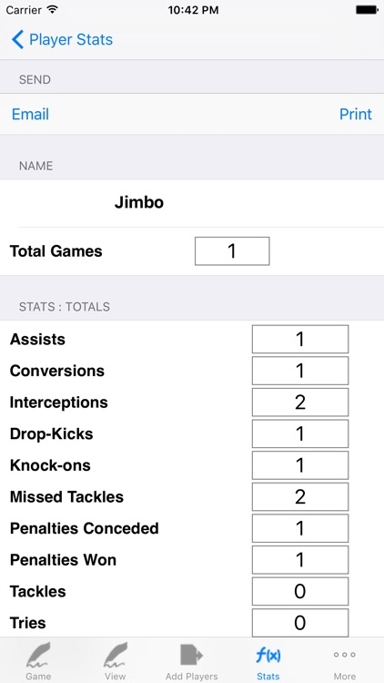 Rugby Player Tracking,Stats,Game Notes,LogBook