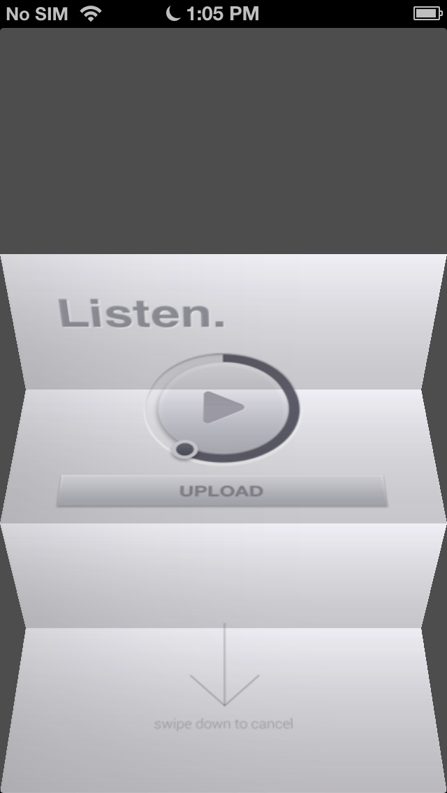 MinimalRecorder Screenshot on iOS