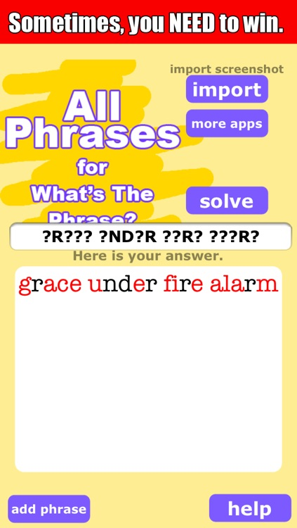 All Phrases Free Cheat for Whats The Phrase by SKH Apps