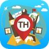 泰国 离线旅游指南和地图。城市观光 曼谷,普吉岛,芭东,清迈
