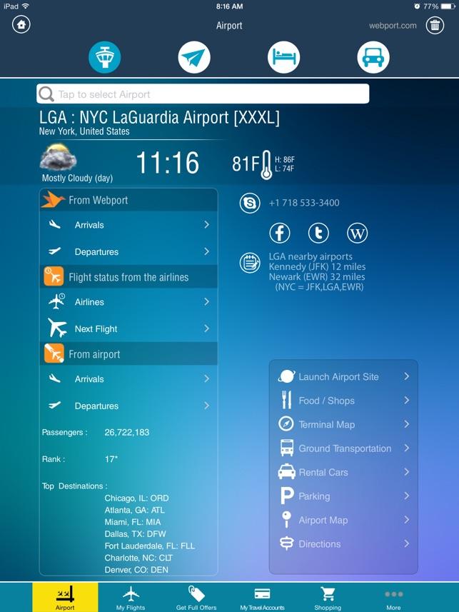LaGuardia Airport LGA Flight Tracker