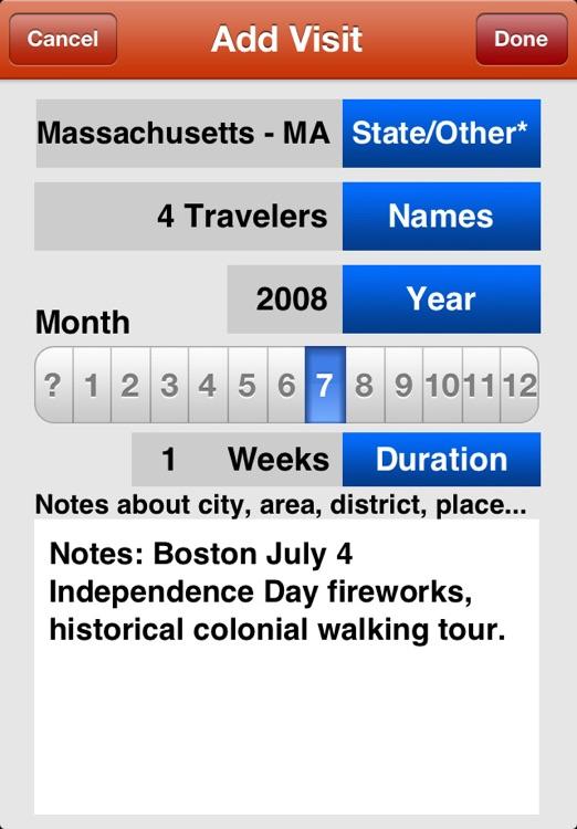 USA Travel Log • States Visited screenshot-3