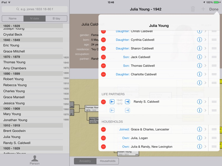 LiveHistory genealogy screenshot-3