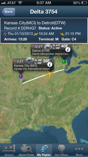 Detroit Airport DTW Flight Tracker Wayne County im App Store on