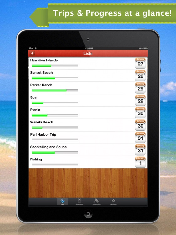Vacation Plus for iPad - Trip Planner & Reminder