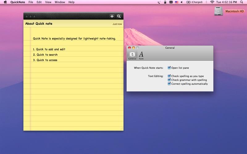 Quick Note Screenshot