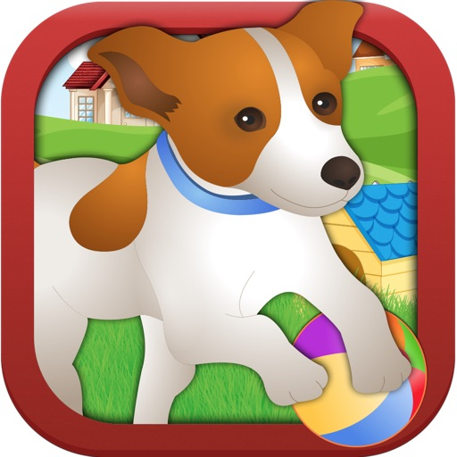 Puppy Beach Ball Jumping Puzzle Adventure - Dog Toy Maze Jump Quest Free
