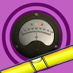 4in1-decibel,clinometer,bubble_level,battery