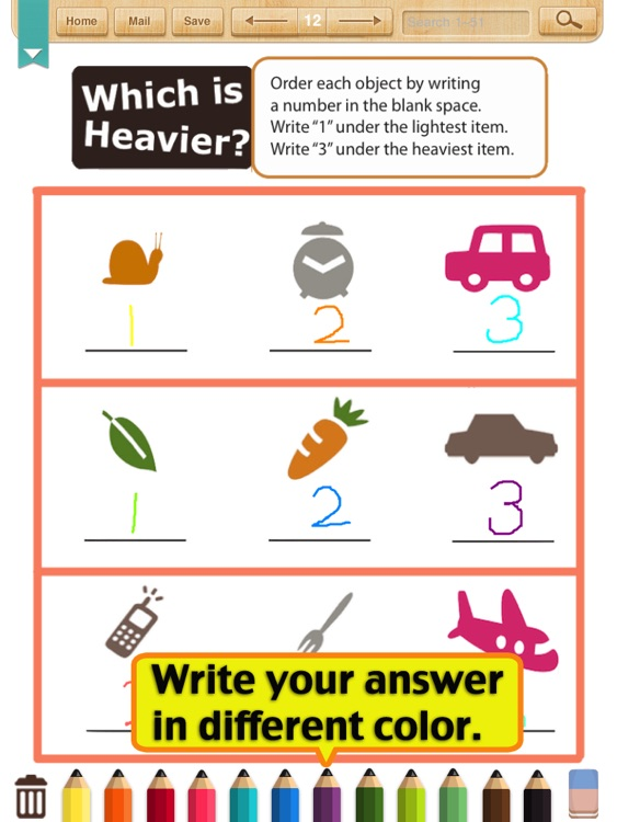 Kids Math-Measurement Worksheets(Grade 1)