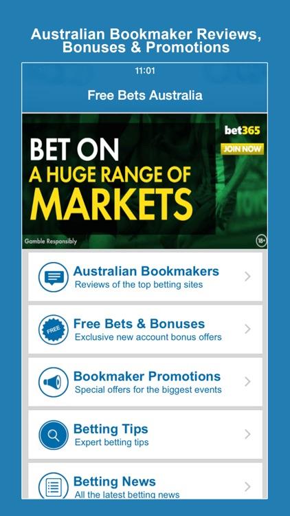 Free Bets Australia - Mobile betting app reviews & bookmaker bonus
