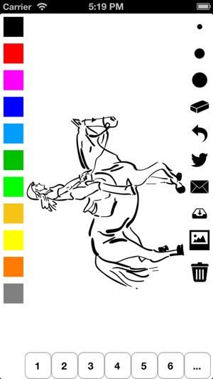 malbuch der pferde f r m dchen pony pferd und mehr malen. Black Bedroom Furniture Sets. Home Design Ideas