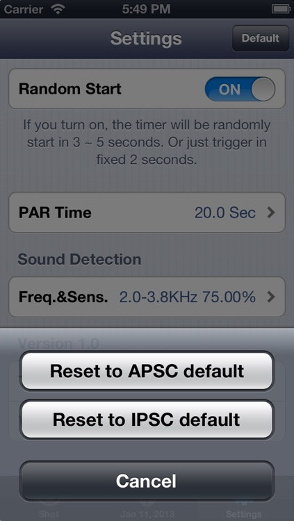 AIPSC Shot Timer (High performance shot timer) screenshot-4