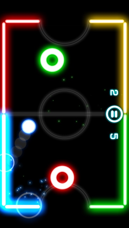 Glow Hockey 2 FREE screenshot-0