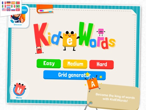 KidEWords - Crossword puzzles for kids-ipad-0