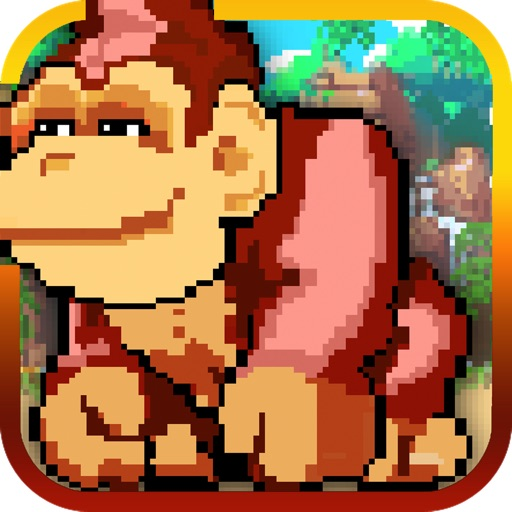 Pixel Monkey - Monkeys Jump, Battle, and Duck under Obstacles in Jungle Temple