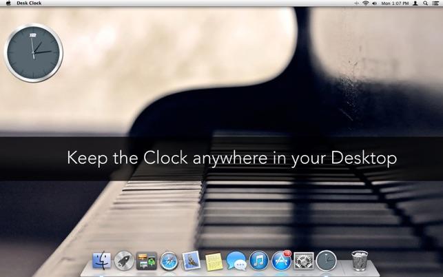 Desk Clock on the MacAppStore