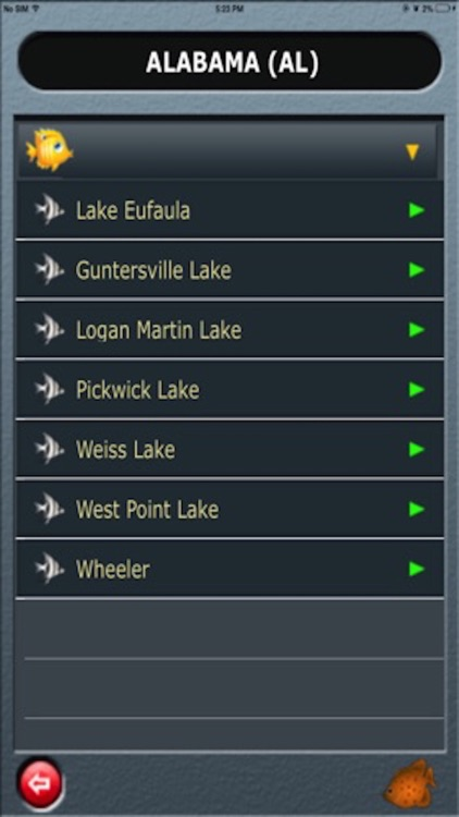 Fishing Lakes-USA