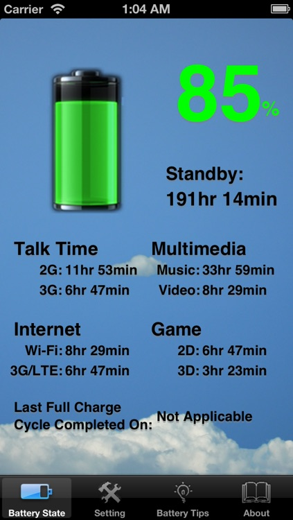 Battery Tips! Free! ~ monitor battery power level & health status with customize wallpaper and battery theme feature