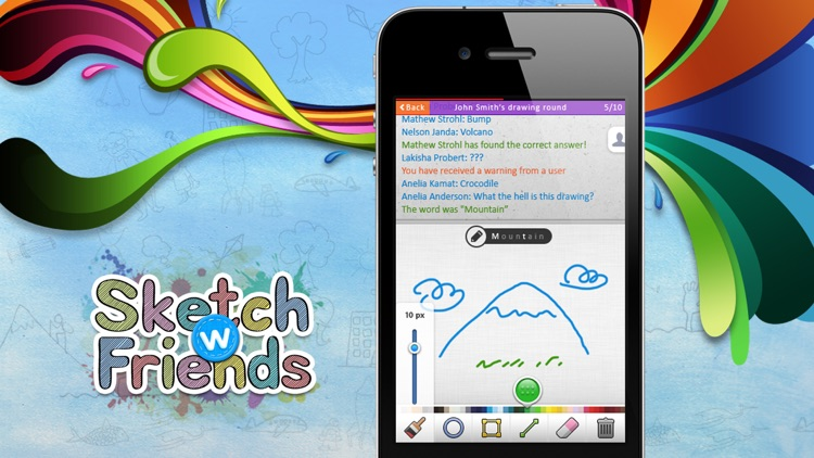 Sketch W Friends - Multiplayer Drawing and Guessing Games for iPhone screenshot-0