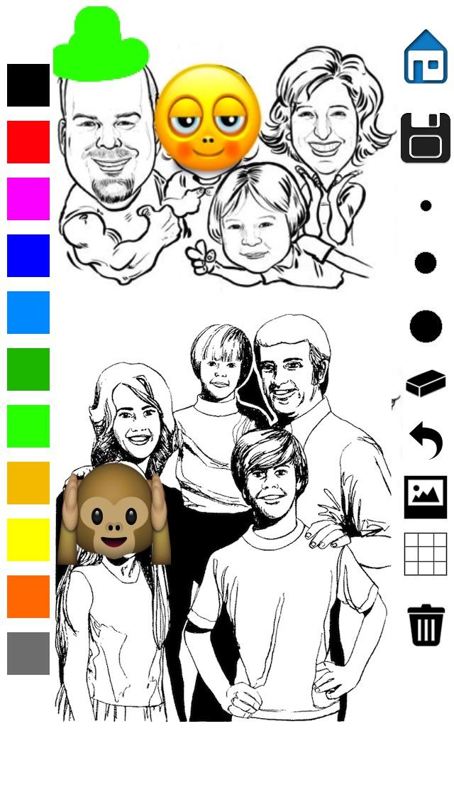 Zeichnung - alles in einem Foto Effekte verrückt Cool Bild Anwendung mit Emojis und EmoticonsScreenshot von 5