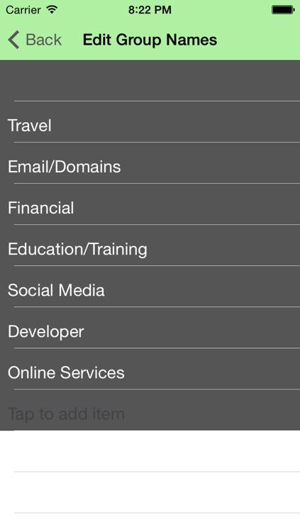 My Sanity - Password Manager screenshot-4