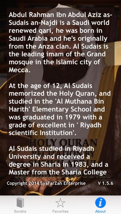 Holy Quran Recitation by Sheikh Abdul Rahman Al-Sudais screenshot-4
