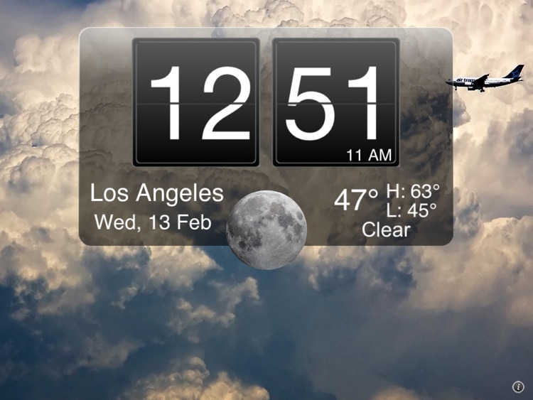 Nightstand Central for iPad Free - Alarm Clock with Weather and Photo Wallpapers screenshot-4