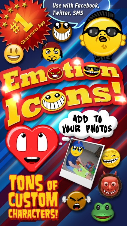 Emoji Characters and Smileys Free! screenshot-0