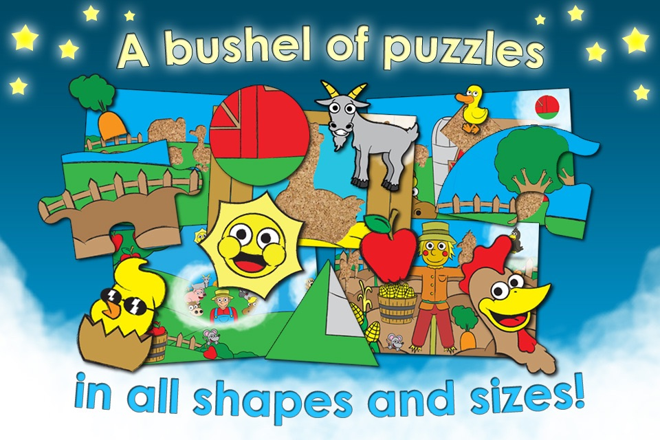 Farm Animal Games and Barnyard Puzzles for Kids HD - Best Preschool Activity and Jigsaw Fun for Toddlers and Families screenshot-0