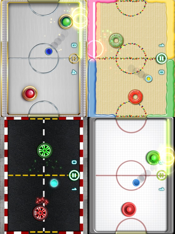 Glow Hockey 2 HD screenshot-3