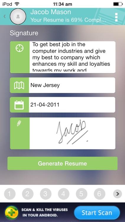 Resume Developer - Create resume on the Go screenshot-3
