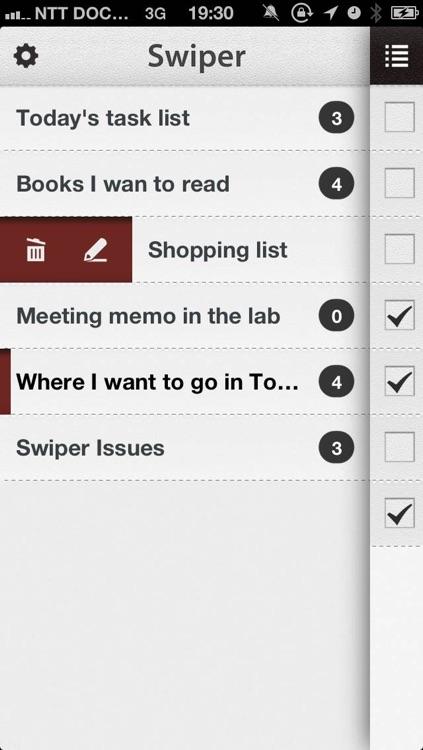 Swiper - Simple ToDo/Task Management