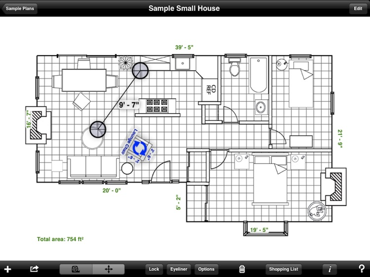 Home Design DIY Interior Floor Layout Space Planning & House Decorating Tool HD by Mark On Call screenshot-3
