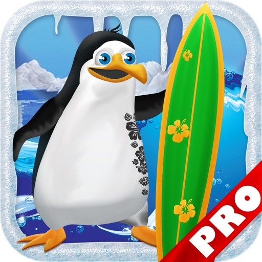 Penguin Surfer PRO FREE - A Fun Kids Game! icon