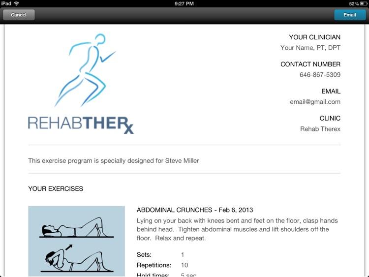 Rehab TherX - Exercises On The Go screenshot-4