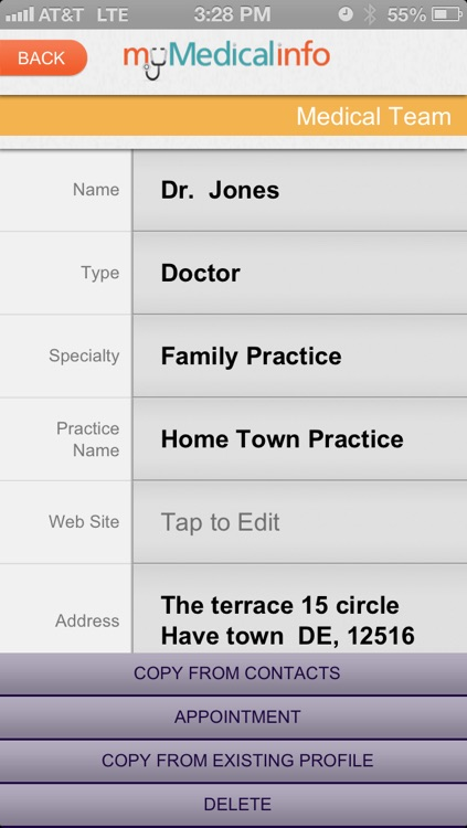 My Medical Info screenshot-1