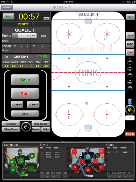 iSOG HD Lite Goalie & Player Stats Utility