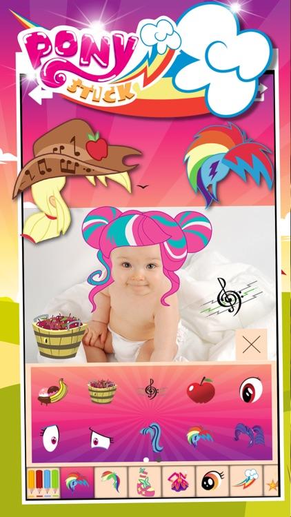 "Manga & Anime Sticker Camera Pony ""Photo Booth Dress Up in Style For Rainbow"" screenshot-3"