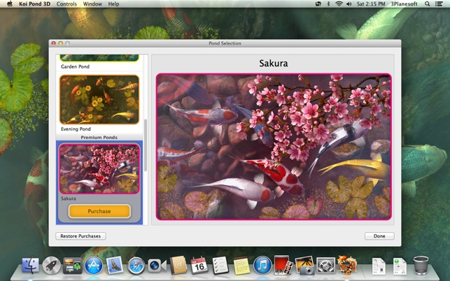 Koi pond 3d on the mac app store for Koi pond app