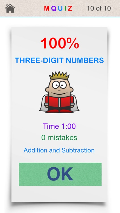 MQuiz Three-Digit Numbers Addition and Subtraction - Mental Math Quiz screenshot-4