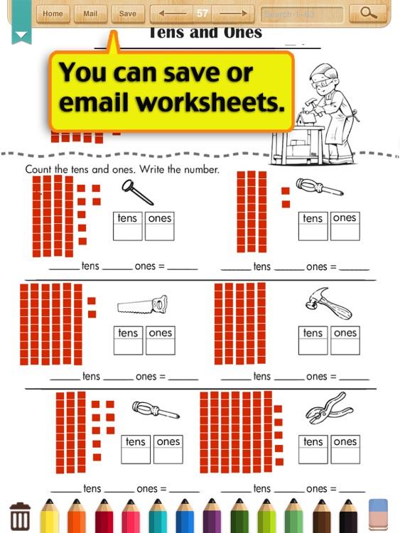 kids math place value worksheets grade 1 by shixian li. Black Bedroom Furniture Sets. Home Design Ideas