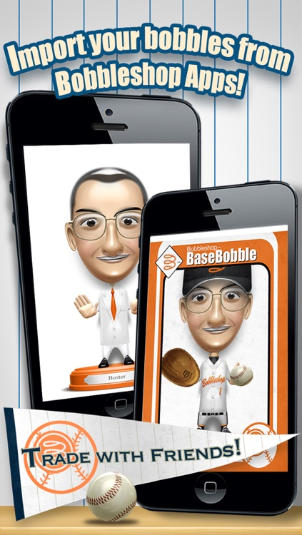 Basebobble - Bobblehead Avatar Maker App for Baseball from Bobbleshop