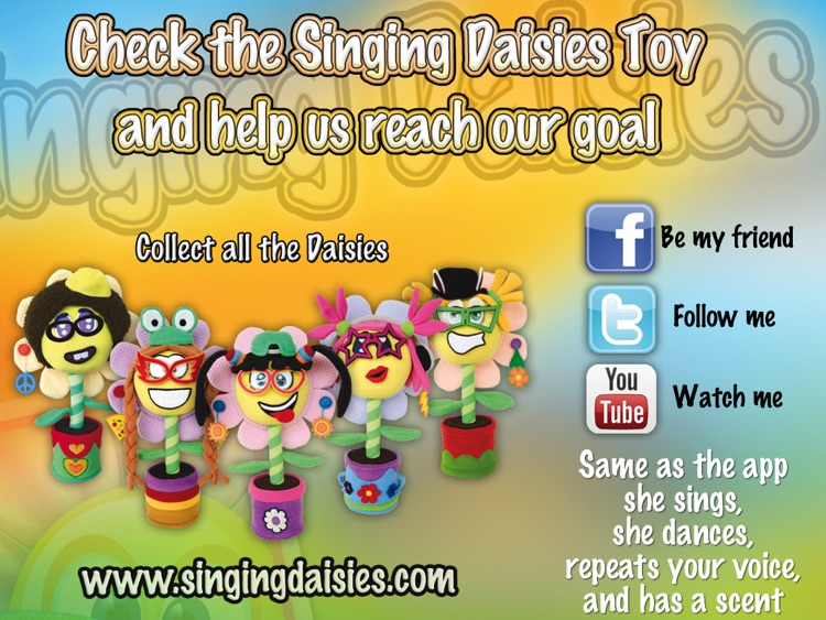 Singing Daisies - a dress up & make up games for kids screenshot-4