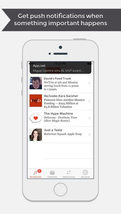 App.net - Broadcast With Push