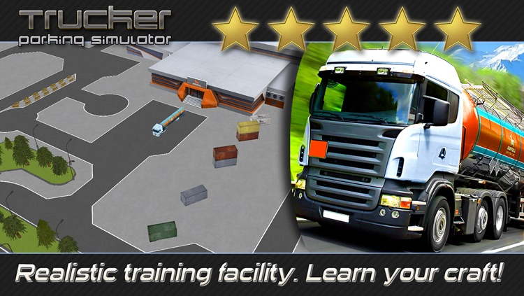 Trucker: Parking Simulator - Realistic 3D Monster Truck and Lorry 'Driving Test' Free Racing Game screenshot-4