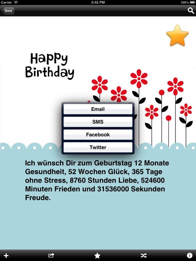 Geburtstagswunsche via sms