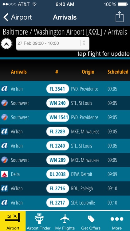 Baltimore Washington Airport BWI - Flight Tracker screenshot-2